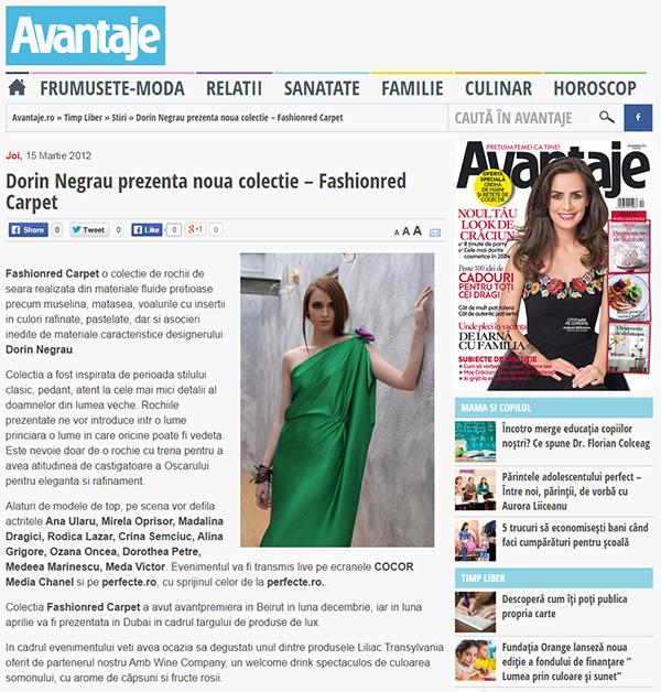 Dorin Negrau prezenta noua colectie - Fashionred Carpet