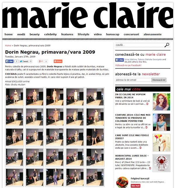 Dorin Negrau, primavara/vara 2009