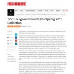 Dorin Negrau Presents His Spring 2015 Collection